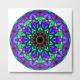 colorful decorative in trendy colors Metal Print