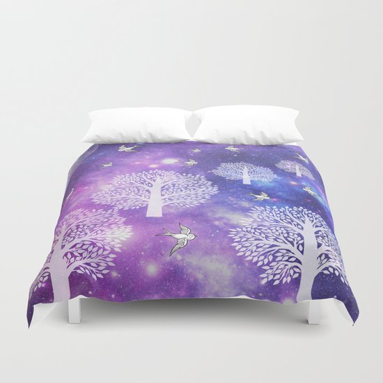 Space Trees Duvet Cover