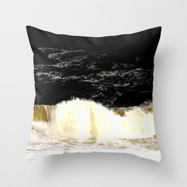 Sludge from an angry Ocean Throw Pillow