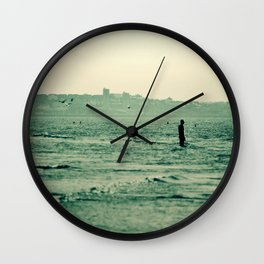 Out in the Ocean Wall Clock