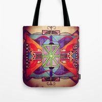 mandala Tote Bags featuring Mandala by Aaron Carberry