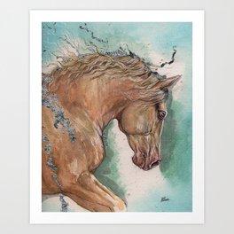 Cremello Horse Art Print