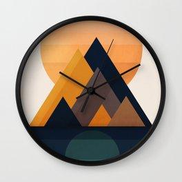 Twin Sun Wall Clock