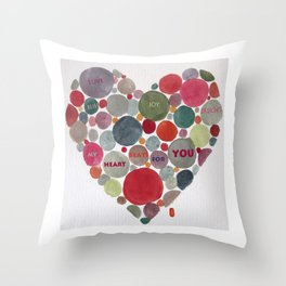 VALENTINE, my heart beats for you Throw Pillow