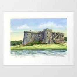 Carew Castle, Wales Art Print