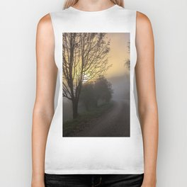 Foggy sunrise Biker Tank