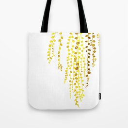 String of pearls #1 in yellow Tote Bag