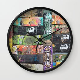Boards were made to  be broken Wall Clock