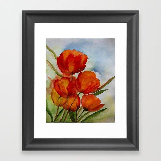 The Paradise of tulips Framed Art Print