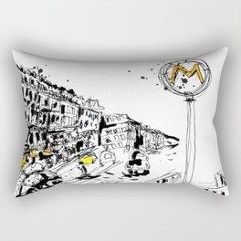 Parisian Street View Rectangular Pillow