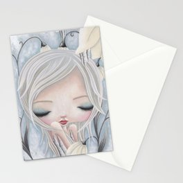Silence of the Snowdrops Stationery Cards