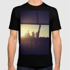 Downtown Los Angeles  SMALL Black Mens Fitted Tee