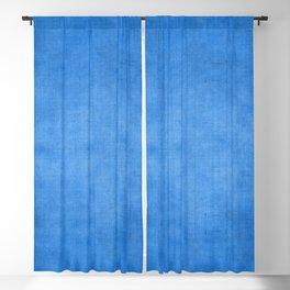 """Exotic Moroccan Indigo Blue Burlap Texture"" Blackout Curtain"