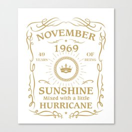 November 1969 Sunshine mixed Hurricane Canvas Print