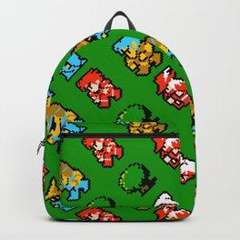 RPG heroes pattern | ff01gg | vintage rpg retro gaming Backpack