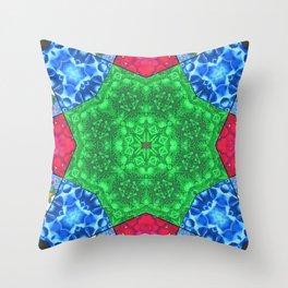 Master Mandala for Achieving Self Control Throw Pillow