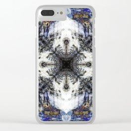 Flow Fractal Clear iPhone Case