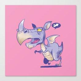 T Rhinosaurus Rex Canvas Print