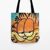 garfield Tote Bags featuring Garfield by Brieana