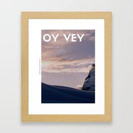 Oy Vey! Yiddish Judaica Gone WILD! Framed Art Print