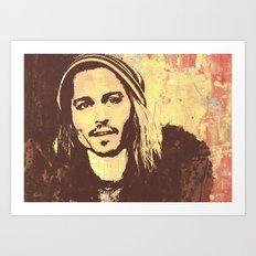 JOHNNY DEEP ONE Art Print