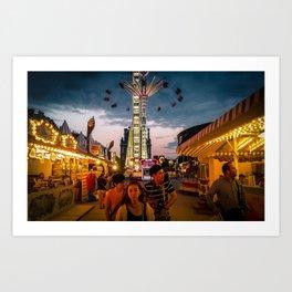 Paris, la fête du jardin des Tuileries Art Print