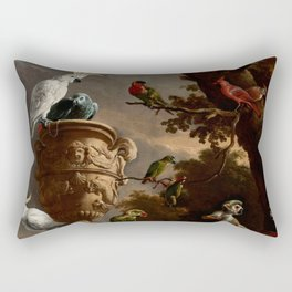 "Melchior d'Hondecoeter ""The Menagerie"" Rectangular Pillow"