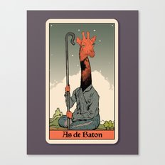 The Ace of Wands Canvas Print