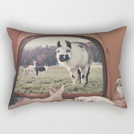 NEVER STOP EXPLORING - BACKCOUNTRY CAMPING Rectangular Pillow