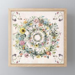 Circle of life- floral Framed Mini Art Print