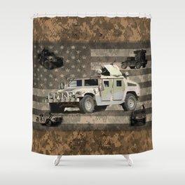 Humvee Military Vehicle Shower Curtain