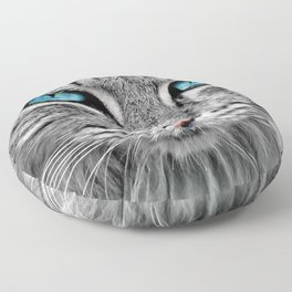 Blue Cat Eyes You Can Never Forget Floor Pillow