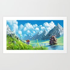 Howls Moving Castle Art Print