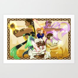 Girls Go To War Art Print