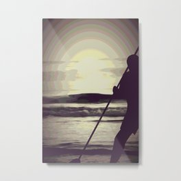 Psychedelic Sunrise Metal Print