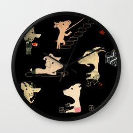 The seven little goats Wall Clock