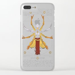 Vitruvian Omnic - color version Clear iPhone Case