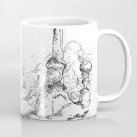 bouletcorp Mugs featuring Promenade dans la montagne - Walking in the mountains by Bouletcorp