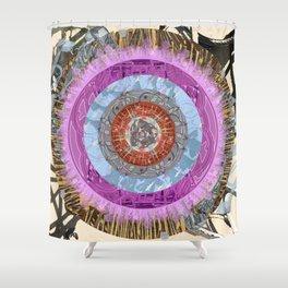 Mandala of a Lost Dog Shower Curtain
