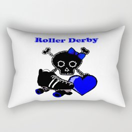 Roller Derby Heart (Blue) Rectangular Pillow