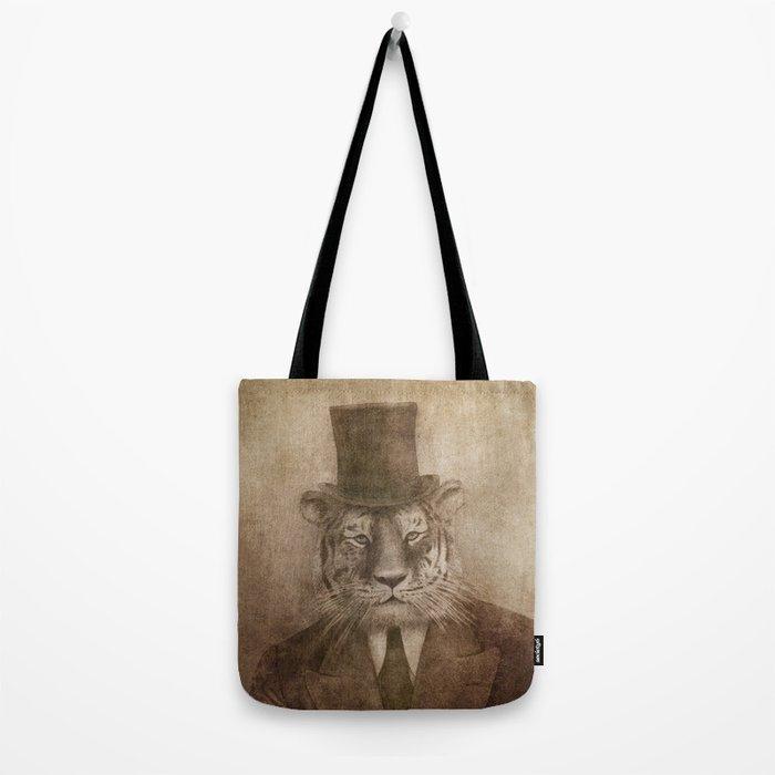 Sir Tiger Tote Bag