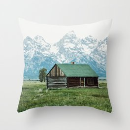 Teton Cabin Throw Pillow