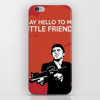 scarface iPhone & iPod Skins featuring Scarface Say Hello to My Little Friend by Florian Rodarte