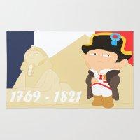 napoleon Area & Throw Rugs featuring Napoleon Bonaparte by Alapapaju
