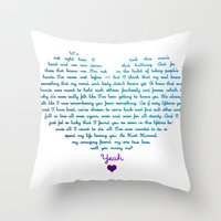 klaine Throw Pillows featuring Klaine Proposal by Andria Ioannou