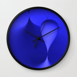the color blue Wall Clock