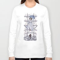 hallion Long Sleeve T-shirts featuring Leia's Corruptible Mortal State by Karen Hallion Illustrations