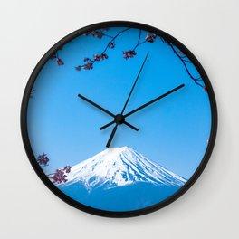 Mount Fuji in spring Wall Clock