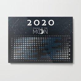 Moon calendar 2020 #1 Metal Print