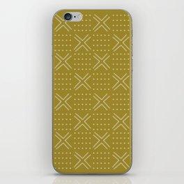 Mud cloth natural cover iPhone Skin